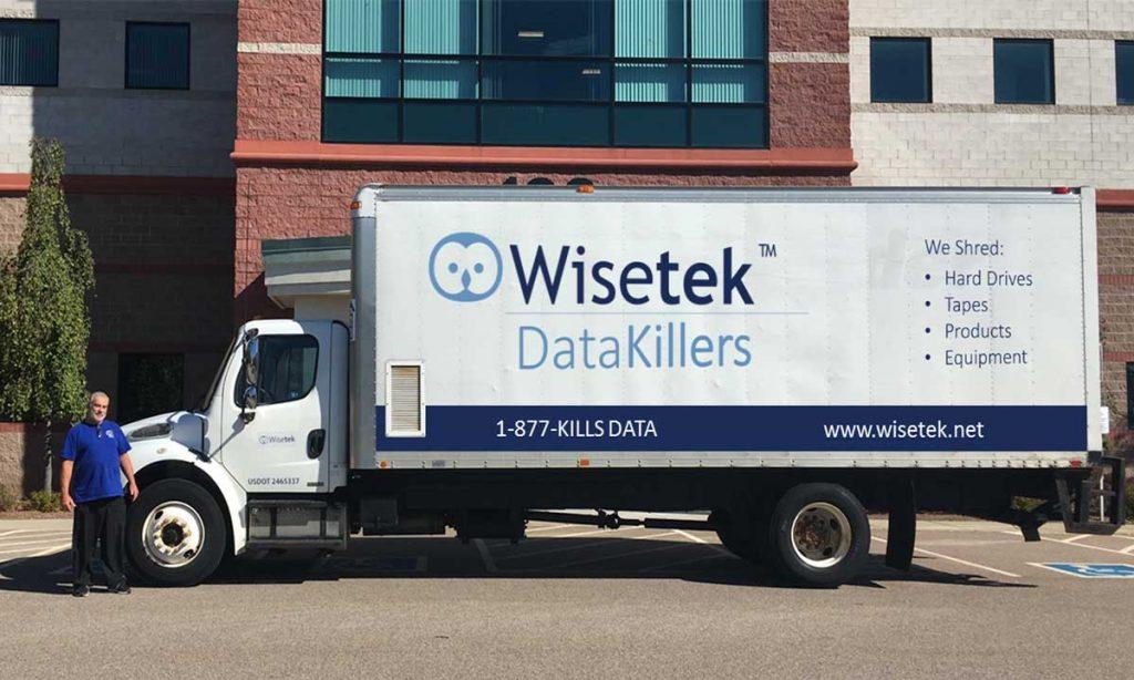 On Site Wisetek Data Destruction Trucks Maryland